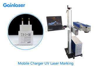 AC220V Win XP  Flying UV Laser Marking System  For Glass